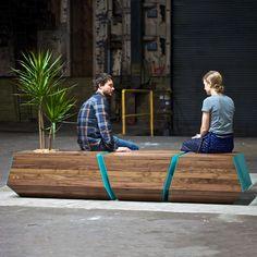 Boxcar Bench, 2015 by Zoe Blatter, Joe Gibson, Zoë Umholtz @revolutiondh via @contemporist #color #texture