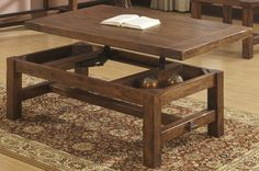 Best Solid Wood Coffee Tables Images On Pinterest Solid Wood - Solid wood lift up coffee table