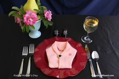 Mother's Day napkin fold. And yes I did.
