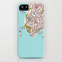Some fashionable inspiration and new trends for your online birthday or christmas shopping spree. Fun New York City Manhattan street map illustration iPhone  iPod Case by Little Smilemakers Studio - $35.00