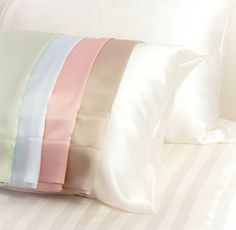Silk Vs Satin Pillowcase Interesting Silk Vs Satin Pillowcases  Home  Pinterest  Silk Vs Satin And Inspiration Design
