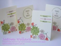 Satomi Wellard-Independent Stampin'Up! Demonstrator Australia and Japan, #stampinup, #su, #satomiwellard, #cardmaking,   #papercrafing ,  #handmade,  #stamping , #ohsosucculent, #thatsthetag #occasionscatalog, #thankyoucard, #minicard, #handmadegreetingcard,