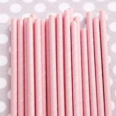 Paper Straws: Solid Pink