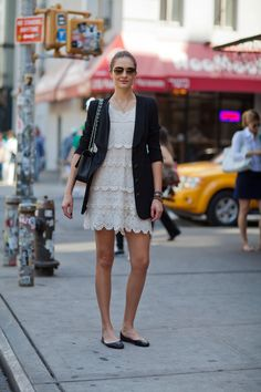 Street-Styled Ways --- Make your favorite LWD work-appropriate with a blazer and ballet flats.                                                                                                  93 / 127