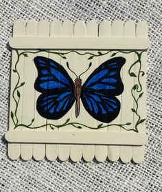 Butterfly magnet by BatsBelfryCrafts on Etsy, $6.99