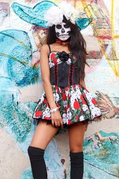 Day Of The Dead Dress - Iron Fist Clothing     #ironfistclothing #ironfist #shoes #apparel #accessories #iron #fist #style #fashion #footwear #alternative #cool #goth #punk #rockabilly #kawaii #gothabilly #dead #ladies #black #platforms #heels #skirts #dresses #rompers #jackets #outerwear #shirts #tshirts #mens #unisex