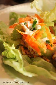 Buffalo-Style Turkey Lettuce Wraps