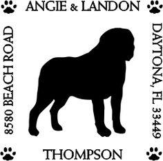 St. Bernard Pet Lover Dog Address Stamp image
