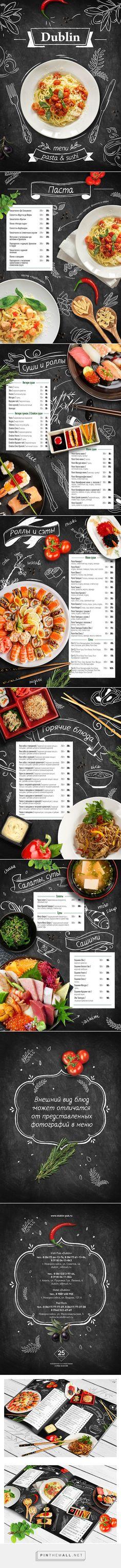 shushi&pasta menu on Behance  https://www.behance.net/gallery/22241141/shushi-pasta-menu - created via https://pinthemall.net