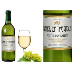 Personalised Wedding White Wine - Golden Design  from www.personalisedweddinggifts.co.uk :: ONLY £19.95