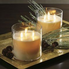 Frontgate Tri-wick Rechargeable Dream Candle