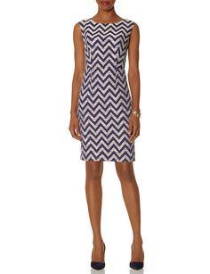 Chevron Sheath Dress | Women's Dresses | THE LIMITED