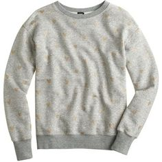J.Crew Gold heart sweatshirt