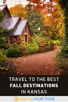 Take a day trip to one of the most beautiful fall destinations in Kansas. You'll find state parks, gardens, arboretums, nature centers, and more on this list. Bring your family for a fun autumn adventure. Beautiful Gardens, Most Beautiful, Beautiful Places In America, Floating In Water, Nature Center, Top Gun, Natural Wonders, Vacation Spots, Day Trips
