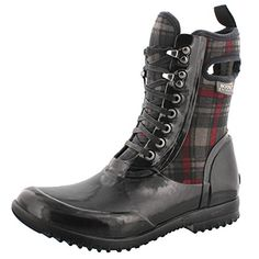 Pick SZ//Color. Bogs Womens Sidney Lace Plaid All Weather Rain Boot