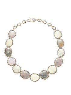Multicolor Sapphire & Cognac Diamond Open Oval Station Necklace by Amrapali on Gilt.com