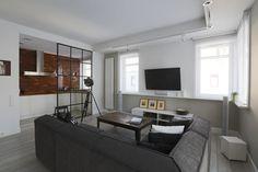 living room, grey, scandi
