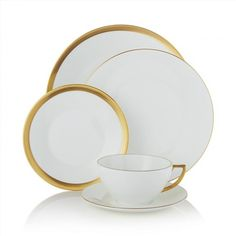 149.00$  Buy now - http://viwzx.justgood.pw/vig/item.php?t=0zs01k54554 - Jasper Conran Wedgwood Gold 5-Piece Place Setting