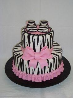Pink Zebra Baby Shower Cake zebra-baby-shower-ideas