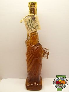 statue of liberty maple syrup bottle
