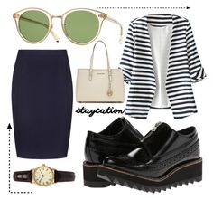 """""""Untitled #39"""" by javiera24 ❤ liked on Polyvore featuring Yohji Yamamoto, WithChic, Sekonda, Oliver Peoples and MICHAEL Michael Kors"""
