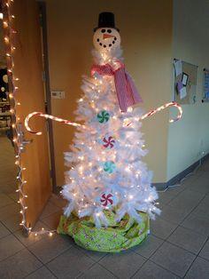 White Christmas Tree Snowman