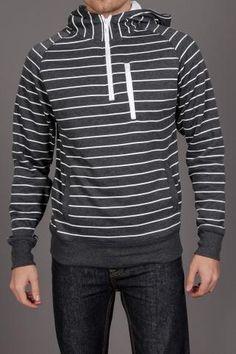 #FUSAI Stripe #Hoodie w/ Neon Zipper