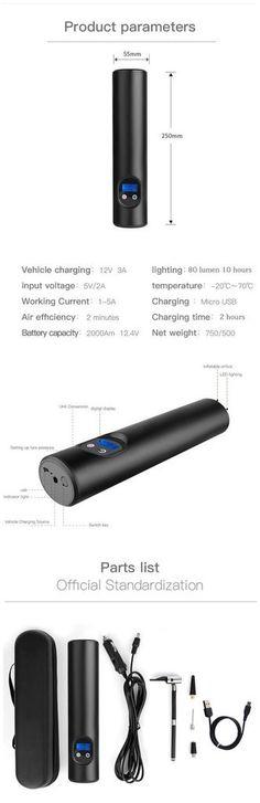 12V 150PSI Portable Mini Electric Air Pump Inflator USB Charging - Default Title