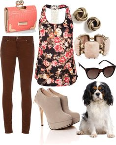 """Cavalier King Charles Spaniel"" by mommymegger on Polyvore"