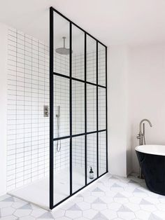 Monochrome, graphic bathroom. For more, visit houseandleisure.co.za