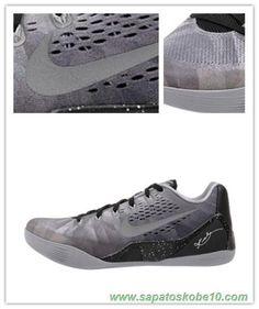 "tenis barato de marca Nike Kobe 9 EM 652908-001 prata metálico ""Premium"" Masculino"