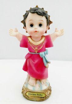 "8"" Inch Statue Divine Child Divino Niño Estatua Catholic Child Jesus Nino Baby  #StatuesFigures"