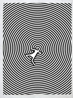 Black & White silkscreen by Christoph Niemann
