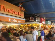 Boqueria market - and specifically Pinotxo Bar! Best Food Ever! :)
