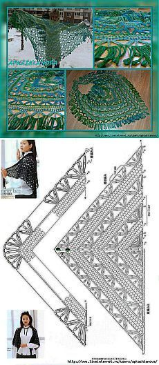 Crochet Patterns Poncho Triangular shawl of dundaga. Gilet Crochet, Crochet Poncho Patterns, Crochet Shawls And Wraps, Shawl Patterns, Knit Or Crochet, Knitted Shawls, Crochet Granny, Crochet Scarves, Crochet Clothes
