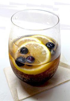 Blueberry Lemon Spiced Rum Cocktail