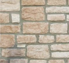 Our Artificial Limestone has a fine granular look with a rough-edged, rectangular shape.