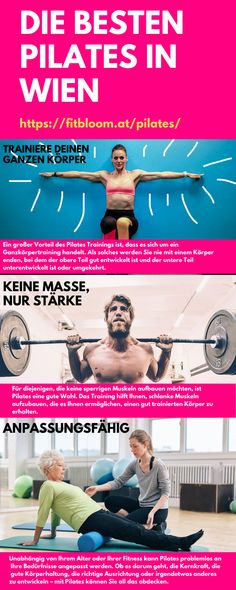 Ganzk旦rper Pilates Training in Wien Pilates Training, Body Training, Pilates Workout, Exercise, Core Muscles, Back Muscles, Whole Body Workouts, Muscle Contraction, Train