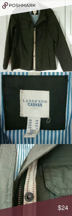 Lands' End Canvas brand cotton/nylon jacket Lands' End Canvas brand 70/30 cotton/nylon jacket. Baby blue striped lining. Lands' End Jackets & Coats Utility Jackets