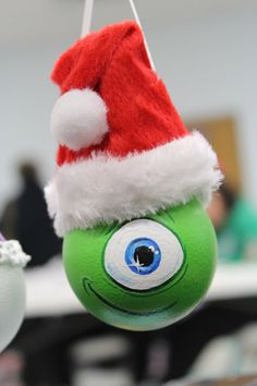 Monster INC. Mike Ornament hand painted light bulb by DesignsbyJodyRife $15