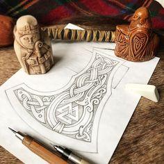 Dragon and Valknut - pencil sketch on the Viking axe + chess ceramics (workflow) эскиз на топор #celtic #celticart #celticknot #ornaments #vikingsnake #arzarz #celticartlogo #artwork #Arzamastsev #siberia #doodle #celticdesign #knotwork #pencil #dragon #viking #line #art #illustration #linework #sketch #drawing #norse #workflow #pencilsketch #vikingaxe #vikingart #snake #Valknut #axe