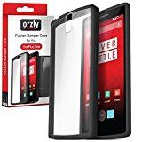 Orzly - FUSION Bumper Case for OnePlus ONE - Protective Hard Skin TPU Phone Cover with Solid BLACK Rim and Built-In Full Transparent Back - Designed by Orzly exclusively for use with the ONE PLUS ONE SmartPhone (Alias: Flagship Model of Smart Phone named ONE Released by ONE PLUS / New 2014 Release /