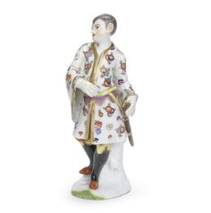 A Meissen figure of a Chinese man, circa 1745-50
