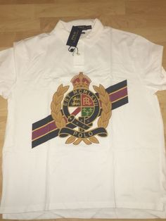a8165dca Ralph Lauren Polo Crest vintage style stadium pwing custom xxl white |  Clothing, Shoes &