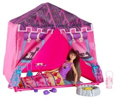 Barbie Sisters Safari Doll and Tent Playset: Setting up camp has never been more fun! Barbie doll's beautiful tent with its animal-themed print is a cozy place for Skipper doll and her sisters frie. Mattel Barbie, Barbie Doll Set, Barbie Sets, Doll Clothes Barbie, Barbie Stuff, Accessoires Barbie, Barbie Playsets, Barbie Sisters, Barbie Doll Accessories
