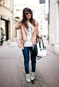 CRES E DIM on THE LITTLE WORLD OF FASHION // french blogger.  Aude wears CRES E DIM beige jacket   http://www.thelittleworldoffashion.fr/2013/04/mm.html#more    http://chicisimo.com/fashion/outfit/mm-5/