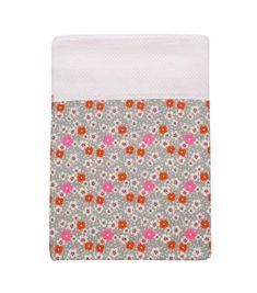 Linge de lit 1 pers.140x200 Fleurs de iles gris - Petit Pan - vivre en multicolore