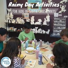 To prevent everyone from going stir-crazy during cold, wet weather, keep these ideas on your rainy day bucket list for indoor fun in Santa Cruz.