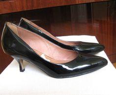 Corso Como Brasil  Womens Black Low Heel  Leather Shoes, Size 8 #CorsoComo #PumpsClassics