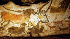 The Lascaux Cave France Perched on cliffs or hidden deep in caves these ancient sites have survived for thousands of years. Lascaux Cave Paintings, Art Pariétal, Stone Age Art, Human Painting, Cave Drawings, Archaeological Discoveries, Painting Wallpaper, Art Graphique, Aboriginal Art